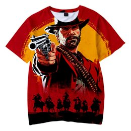 Chinese  Game Dead Redemption Kids Adults 3D Print T-shirts Harajuku Men Women Tops Tees Children Boys Girls Cartoon Print Pullover Tops Clothes New manufacturers