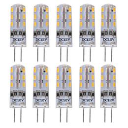 $enCountryForm.capitalKeyWord Australia - Lightme 10PCS Set G4 DC12V 1.5W SMD 3014 LED Dimmable Bulb Spotlight with 24 LEDs Bulb Warm Cold White Light Chandelier Lamp Replace Halogen