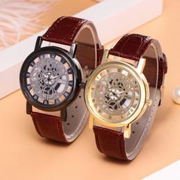$enCountryForm.capitalKeyWord Australia - Belt! Watch popular foreign trade fashion hollow belt watch non-mechanical watch men and women's wholesale foreign trade