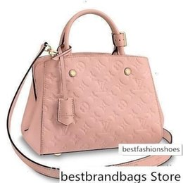 caviar tote UK - M44123 MONTAIGNE BB pink Real Caviar Lambskin Le Boy Chain Flap Bag HANDBAGS SHOULDER MESSENGER BAGS TOTES