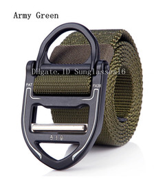 Active Alloys Australia - 49 In Heavy Duty Army Green Men Belt Mens Designer Belts Ceinture Five style Tactical Nylon Buckle Alloy Outdoor Sports Active Waist Strap
