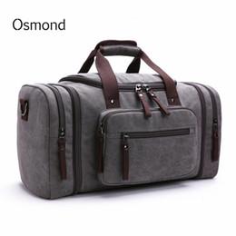 $enCountryForm.capitalKeyWord NZ - Canvas Travel Bags Weekend Shoulder Bags Large Capacity Men Hand Luggage Travel Duffle Multifunctional Overnight Duffel Bag