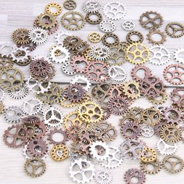 $enCountryForm.capitalKeyWord Australia - SWEET BELL Mix 300 pcs 4 color Size 8-15mm Steampunk Charms mini Gear Pendant Antique bronze DIY Metal Jewelry Making