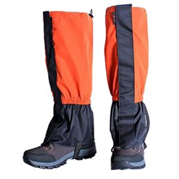 Leg Cycling Australia - 1 pair Waterproof Cover Cycling Shoe unisex Ski Boots Snow Trekking Outdoor Hiking Trekking Climbing Skiing Leg Leggings
