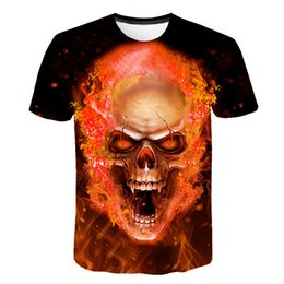6bf6dcbac 2019 New Mens Summer Skull Print Men Short Sleeve T-shirt 3d T Shirt Casual  Breathable T-shirt Plus-size T-shirt