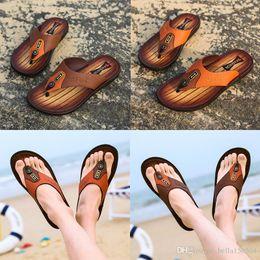 $enCountryForm.capitalKeyWord Australia - top quality designer sandals Leather flip-flops causal Non-slip summer huaraches slippers flip flops slippers summer outdoor beach slippers
