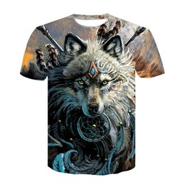 577306ef Wolf Warrior by SunimaArt 3D T shirts Men T-shirts New Design Drop Ship Tops  Tees Short Sleeve Tshirt Camiseta Summer Animal