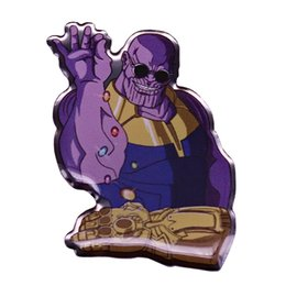 Avengers bAdges online shopping - Thanos infinite gauntlet pin Avengers powerful gems badge Marvel fans great addition