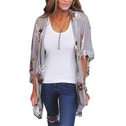 Wholesale rhinestone zipper cardigan for sale – winter Women Shirt Kimono Boho Cardigan Vintage Floral Print Blouse Loose Shawl Cape Knits Bohemian Coat Jacket cny1514