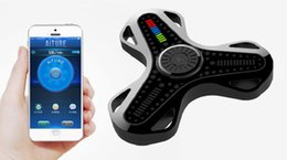 China Fidget Spinner Mobile APP Smart Control Bluetooth Synchronous Finger Spinner LED Magic Fingertip Gyro Decompression Toy Intelligent Health suppliers