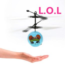 Toy Helicopter Induction Australia - doll RC Drone Flying copter Ball Aircraft Helicopter Led Flashing Light Up Toys Induction Electric Toy sensor Kids Children Christmas