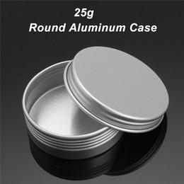 Empty Tin Cans Wholesale Australia - 72pcs 25g Empty Aluminum Cans Silver Round Cosmetic Cream Jar Hair Wax Case Lip Balm Container Makeup Tin Pot + Screw Thread L