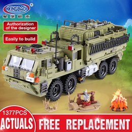 $enCountryForm.capitalKeyWord Australia - Xingbao 06014 Military Series 1377pcs The Scorpion Heavy Truck Set Building Blocks Compatible With LP Military Bricks Toys