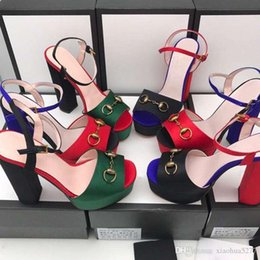 $enCountryForm.capitalKeyWord Australia - fashion 2019 Fashion designer women high heels 14cm Green, red and gold silk party Toes Pumps Dress shoes Original box