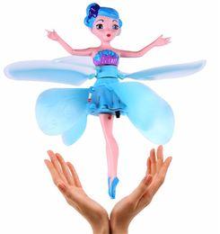 $enCountryForm.capitalKeyWord Australia - Fairy Magical Princess Dolls Infrared Light Suspension Flying Doll Toys Mini Drone Girl Children's Gift Figure Toys