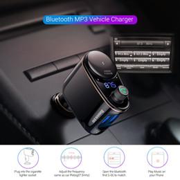 Dual Audio Car Australia - Car Charger Dual USB Car MP3 Audio Player Bluetooth Car Kit FM Transmitter Handsfree Calling 5V 3.4A Mobile Phone Charger