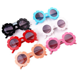 Flowers mix online shopping - Girls Flower Sunglasses Children Round Flower Sun Glasses Eyewear Summer Toddler Kids Sun Glasses Boys Girls Fashion Sunglass GGA2204
