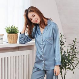 Satin Silk Patchwork Women s Pajamas Set Long Sleeve Blouse Trousers Pajama  Sets Women 2018 Autumn Winter Bathrobe Plus Size 459044ff4