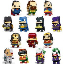 Discount superman wonder woman figures - Justice League action figures building blocks Batman Wonder Woman Superman Aquaman The Flash Cyborg Shazam Joker Figures