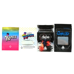 Wholesale Runtz Box Zipper Bags Connected Alienlabs Package Stand Up Pouch Smell Proof Bag To Contain Dry Herb Flowers dhl