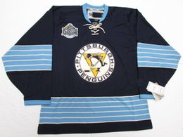 Cheap custom PITTSBURGH PENGUINS 2011 WINTER CLASSIC HOCKEY JERSEY stitch  add any number any name Mens Hockey Jersey XS-5XL a5dce7076