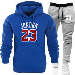 50d7cd65 Men 'S Fashion Tracksuit Casual Sportsuit Men Hoodies Sweatshirts+Sweatpants  23 Print Jogger Suit Men Set Brand Clothing M-2XL