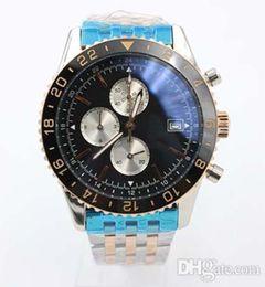 $enCountryForm.capitalKeyWord Australia - New luxury designer watch Chronograph Quartz Men s Wristwatch Stainless Steel Black dial Y24310 Watch High quality