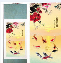 art canvas prints Australia - Silk Painting Fish In The Water Traditional Chinese Art Painting Home Office Decoration Chinese Painting Fish2019061802