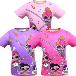 Top new Toys online shopping - T shirt D color Printing New Cartoon Girls Short sleeve T shirt Summer Breathable children s wear Kids Children Outwear Top Clothing