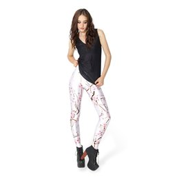 Ladies Wearing Leggings Australia - Girl Leggings Peach Blossom 3D Digital Full Printed Skinny Yoga Wear Pants Woman Full Length Trousers Lady Workout Sport Jeggings (YLgs3299)