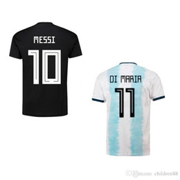 argentina l short NZ - 2019 Copa America Soccer Jerseys MESSI AGUERO DYBALA DI MARIA GOMEZ football Shirts Argentina nationalfootball uniforms home away apparel