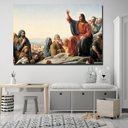 16x24 Painting Australia - Jesus Ascended To Heaven HD Art Canvas Poster Painting Wall Picture Print Home Living Room Bedroom Decoration