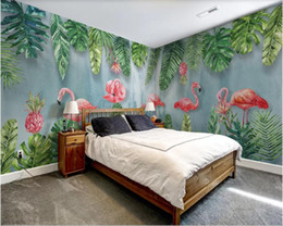 $enCountryForm.capitalKeyWord NZ - 3d wallpaper custom photo mural Nordic modern minimalist hand-painted plant flamingo whole house background home decor wall art pictures