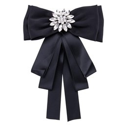 rhinestone bows Australia - Free Shipping Alloy exaggerated bow brooch ribbon diamond neckwear brooch women's fashion brooch Rhinestone