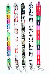 $enCountryForm.capitalKeyWord Canada - Hot!new Style! 20pcs Marilyn Monroe Cell Phone Lanyards Strap Id Badge Holder Keychain Lanyard Neck Straps With Keyring