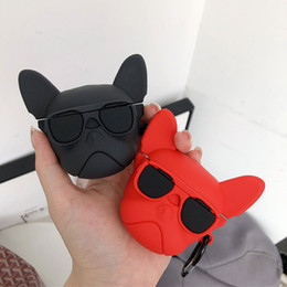 mix box accessories Canada - Cute 3D bulldog dog silicone case for Airpods pro Bluetooth Earphone Accessories cover Bag box for airpods 3 case