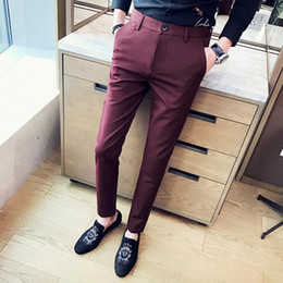 $enCountryForm.capitalKeyWord Australia - 2019 new fashion Mens Casual Pants high quality Brand Work Pants male Clothing Cotton Formal Trousers men size 36 38