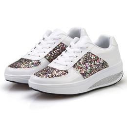 $enCountryForm.capitalKeyWord NZ - Designer Dress Shoes CAGACE Women's Ladies Wedges Sneakers Sequins Shake Lady 2019 Fashion Girls Sport SIZE35-41