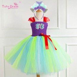 $enCountryForm.capitalKeyWord Australia - New Mermaid baby girls dresses kids dresses tutu princess dress+headband 2pcs kids designer clothes girls beach dress girls clothes A6290