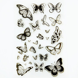 $enCountryForm.capitalKeyWord Australia - ilicone clear stamps YLCS151 Butterfly Silicone Clear Stamps For Scrapbooking DIY Album Paper Cards Making Decoration Embossing Rubber St...