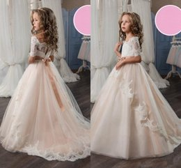 $enCountryForm.capitalKeyWord Canada - New Style Princess Pageant Flower Girl Dress Kids Wedding Party Birthday Bridesmaid Tutu Children Prom Ball Gown GNA41