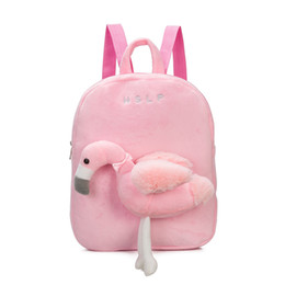 China 2018 New Kids girls boy Toddler Flamingo Unicorn Backpack Cartoon School Bag Plush Bookbag Zoo School Bag Little Girls Boys Animal Backpacks cheap zoo backpack kids suppliers