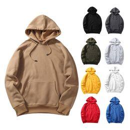 Wholesale plain black hoodie mens for sale – custom Mens Womens Plain Fashion Hooded Hoodies Leisure Hip Hop Male Streetwear Casual Loose Sweatshirts Long Sleeve