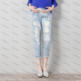 Maternity Jeans Maternity Pants Clothes For Pregnant Women Trousers Nursing Prop Belly Leggings Jeans Pregnancy Clothing Pants on Sale