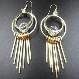 $enCountryForm.capitalKeyWord Australia - 2019 Hot sale alloy zircon Tassels Dangle Chandelier Earrings Gold silver Exaggerated Pendant Earrings woman Fashion jewelry