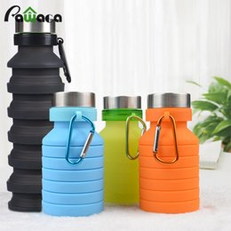 hand water bags Australia - Portable Silicone Water For Sports Outdoor Travel Telescopic Collapsible Kettle Drink Bottle 550ml Q190525