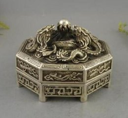 $enCountryForm.capitalKeyWord Australia - DYZ +++++++exquisite carved dragon incense burner box three tibetan silver statue