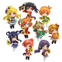 Wholesale anime love figure for sale – custom Anime Love Live Key Chain PVC Keychain Lovelive Bag Pendant Key Chain Cosplay Figure Toy