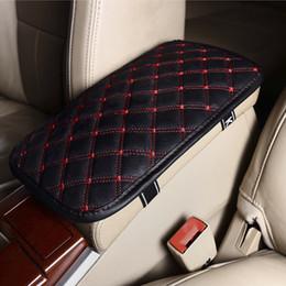 $enCountryForm.capitalKeyWord NZ - Leather Car Armrest Pad Covers Universal Center Console Auto Seat Armrests Box Pads Black Armrest Storage Protection Cushion