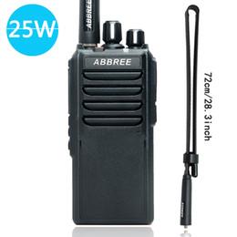 ar batteries 2019 - ABBREE AR-25W Walkie Talkie UHF 400-480MHz Output Power 25W 10W 5W 10Km Range Radio 4000mAh Battery + Tactical Antenna d